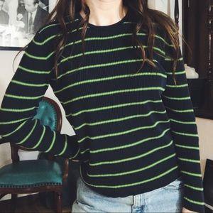 VINTAGE • striped ribbed shirt
